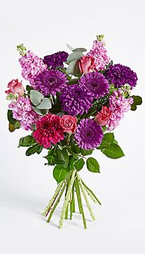 The Madame Mimi Florist In New Orleans Flower Delivery Purple 39 S And Pinks A Modern Rectangle Vase
