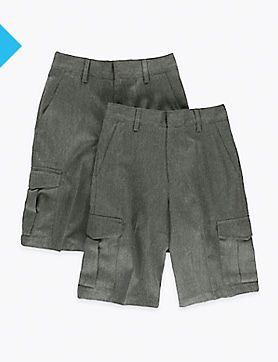 Two pairs of boys' school shorts