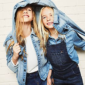 Two girls in denim