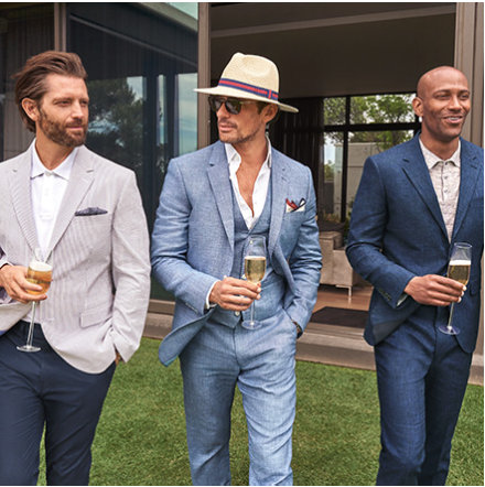 Men wearing summer suits