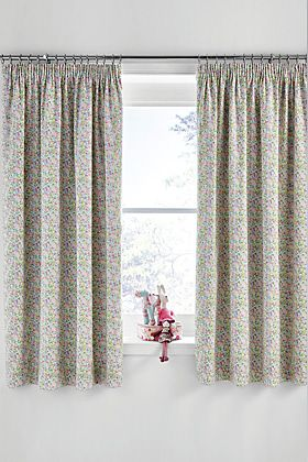 Curtains and chair