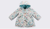 Floral print baby girls' coat