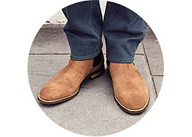 Mens chelsea boots and jeans