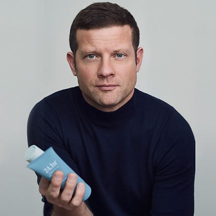 Dermot O'Leary with his new 24.hr Grooming for Men range