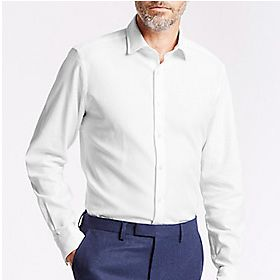 Man wearing white shirt