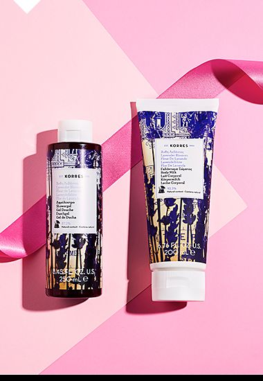 Korres Lavender Body Wash and Body Milk
