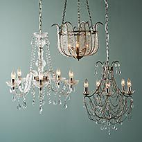 Glass and metal ceiling lights