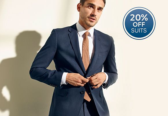 20% off suits, use the code SUITSAVE