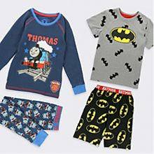 Thomas the Tank Engine and Batman PJs