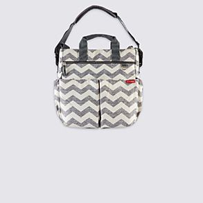 Grey and white hospital baby bag