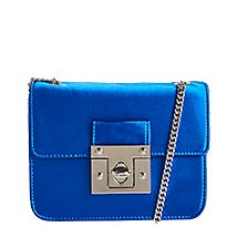 Cobalt twist-lock boxy cross-body bag