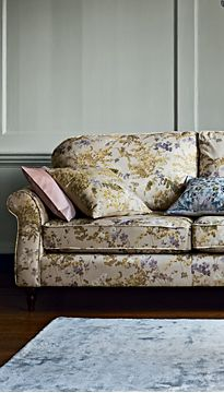 Floral patterned sofa