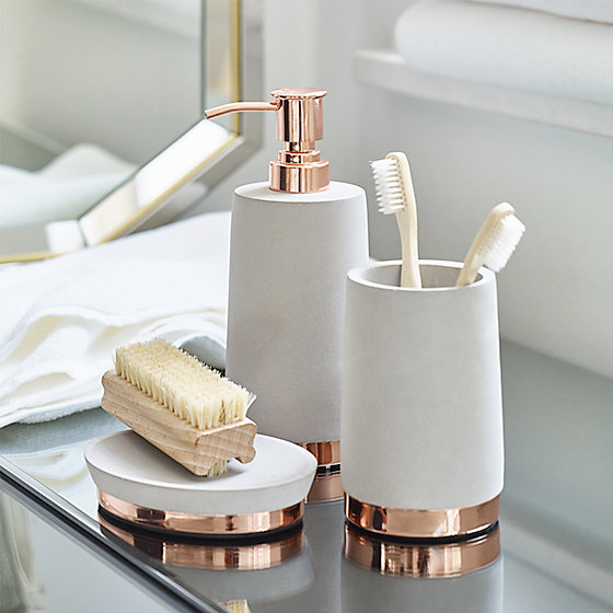 Marvellous Rose Gold Bathroom Accessories Ideas Exterior
