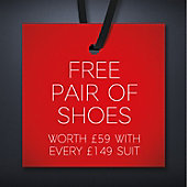 Free Shoes with a £149 Suit