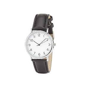 Black strap analogue mens watch