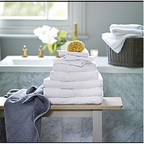 White towels in a bathroom