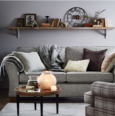 Sofa  armchair and coffee table in living room. Furniture   Home   Furniture   M S