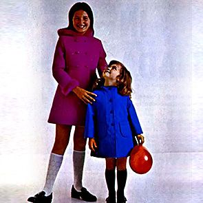 Catalogue image from the 1970s of children in uniform