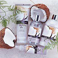 Bath and body products with coconut