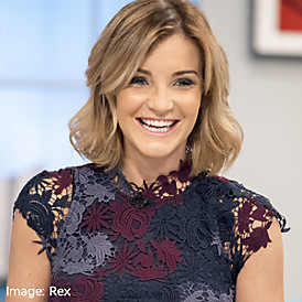 Helen Skelton wears M&S dress from Per Una