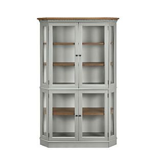 Wooden cabinet with shelving