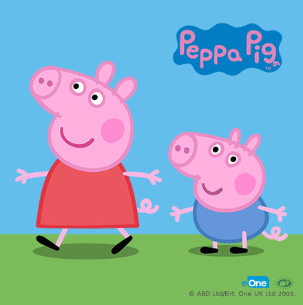 Peppa pig and her brother George