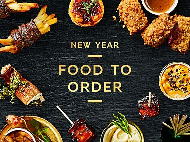 A selection of New Year Food to Order dishes