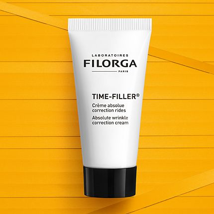 Filorga Time Filler on a yellow background