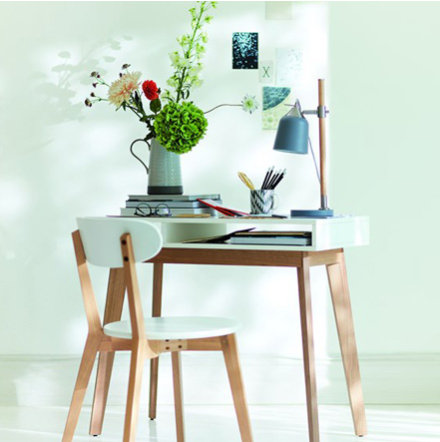 Bradshaw Wooden Desk And Chair With Home Office Accessories