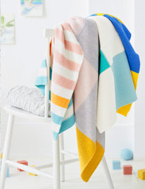 Brightly coloured towels