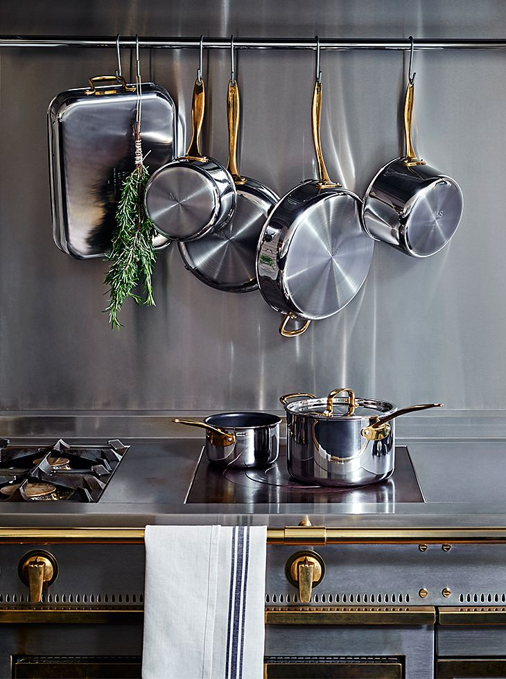 Saucepans and frying pans from the M&S Chef range