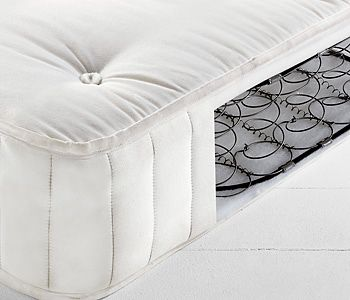 Mattress with springs exposed