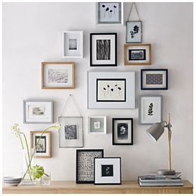 Picture frames hanging on a wall