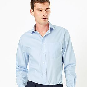 Man wearing Big & Tall shirt