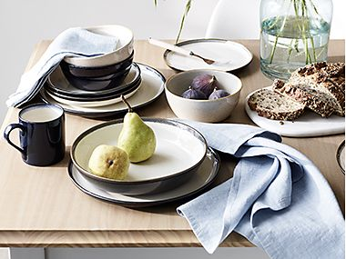 Dinnerware with table linen
