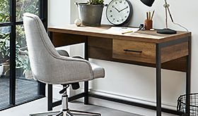 Office chair at a desk
