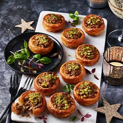 Collection mini beef and porcini Yorkshires