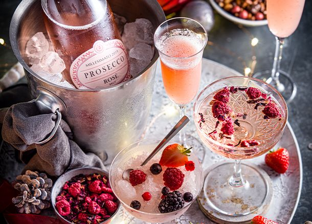 Three ways with prosecco rosé