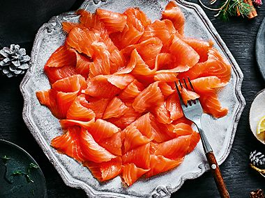 Plate of Our Best Ever smoked salmon