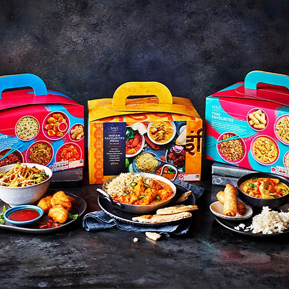 A selection of takeaway boxes