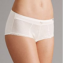 White lace-top knickers