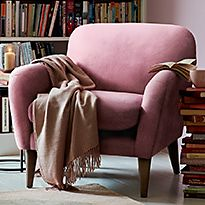 Tromso armchair with throw
