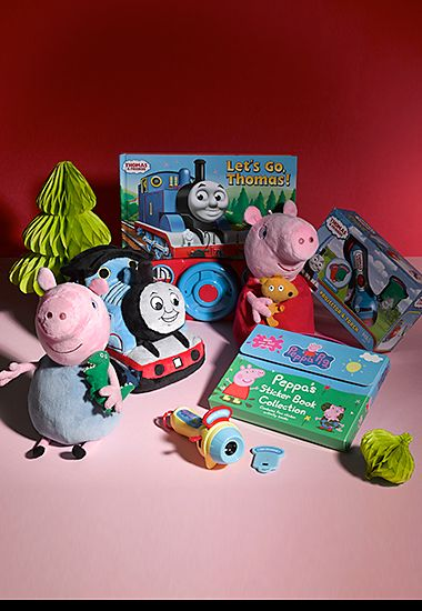 M&S character shop including Peppa Pig and Thomas the Tank Engine toys and books