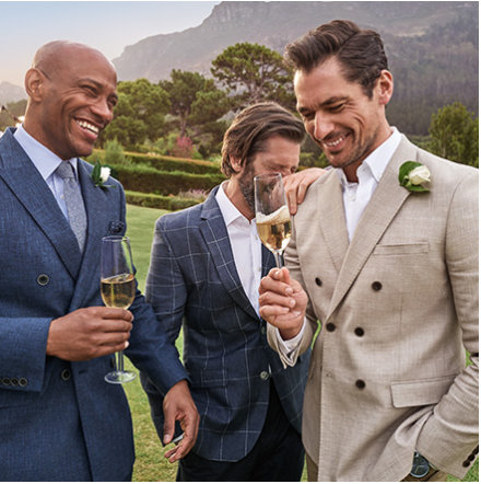 Men wearing summer suits and linen suits