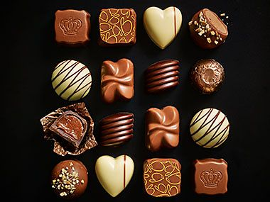 Selection of chocolates