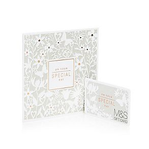An M&S gift card