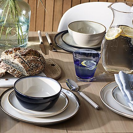 Modern dinnerware on a table