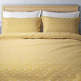 Mustard printed bedding set