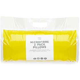 Two-pack of microfibre pillows