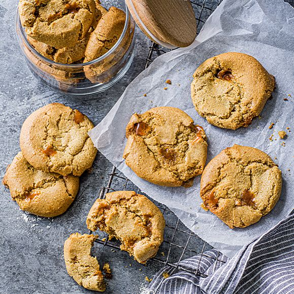Plant Kitchen salted caramel cookies
